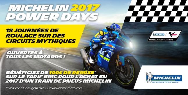 Visuel des journées Michelin Power Days 2017