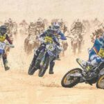 Photo de motos cross dans le sable à l'enduropal du touquet