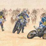 Photo de motos cross dans le sable à l'enduropal du touquet