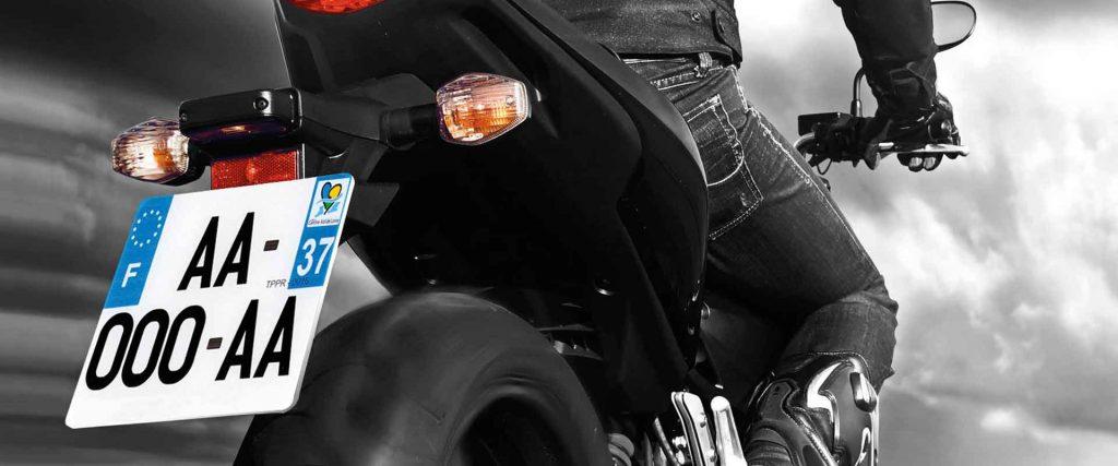 nouvelles plaques d'immatriculation moto