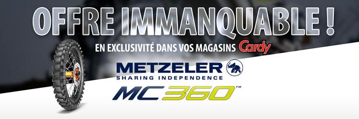 Metzeler MC360, offre immanquable chez Cardy