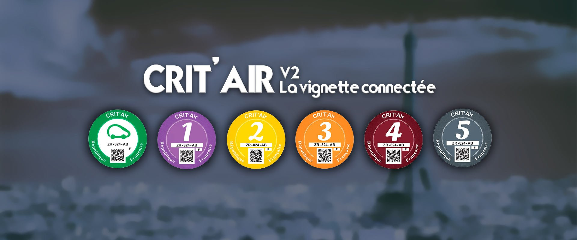 vignette Crit'Air connectée