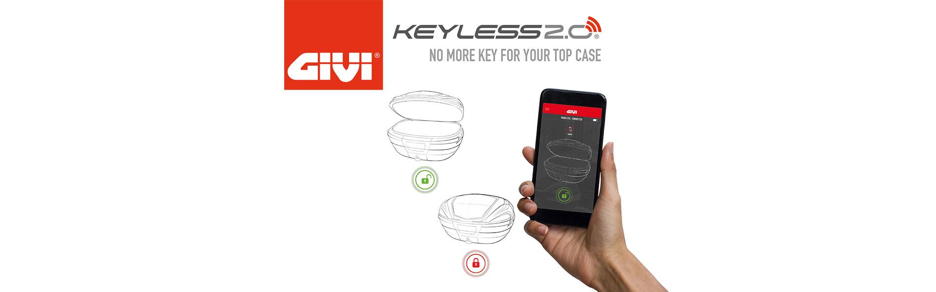 Top case Givi Keyless 2.0 : déverrouillez-le avec votre téléphone !