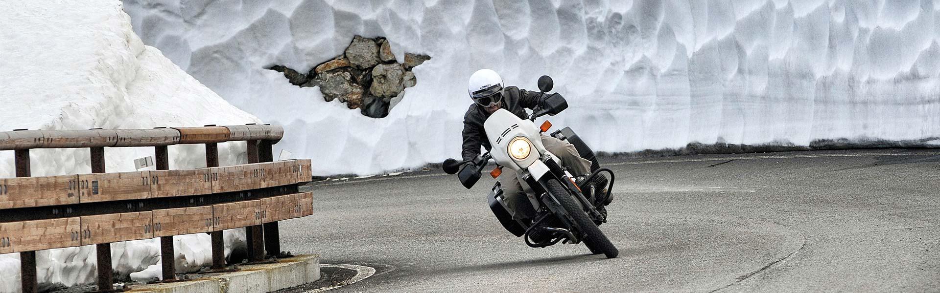 rouler en moto l'hiver, une partie de plaisir...