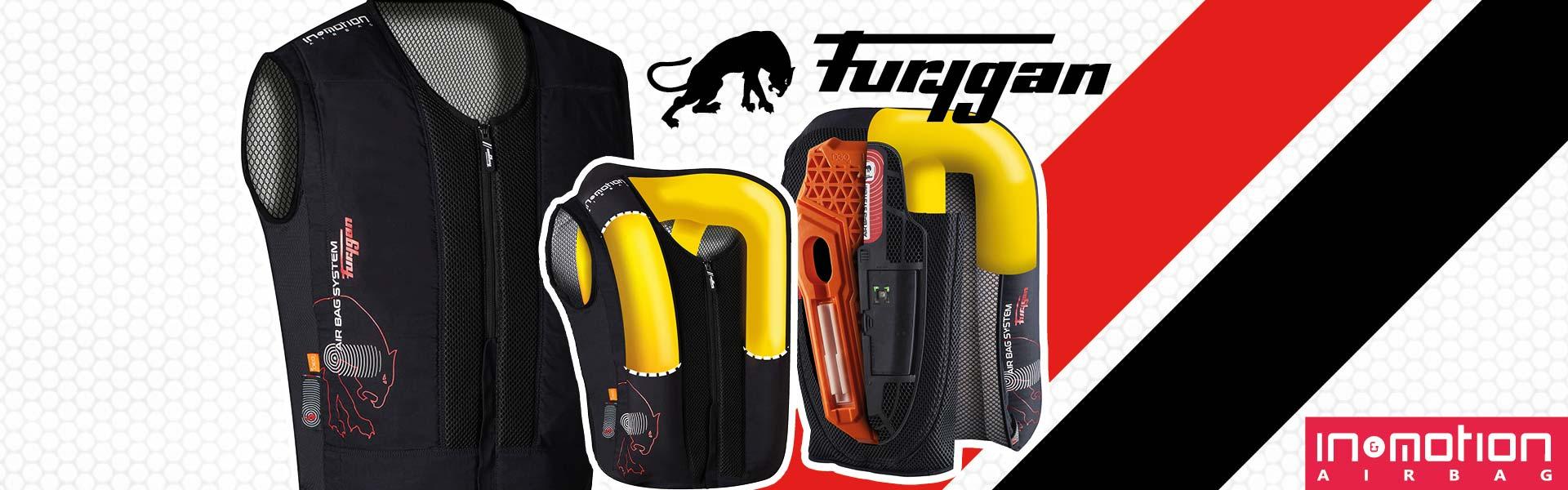 Nouvel airbag Furygan, le gilet Fury Airbag System Evo s'adapte à tous les blousons.