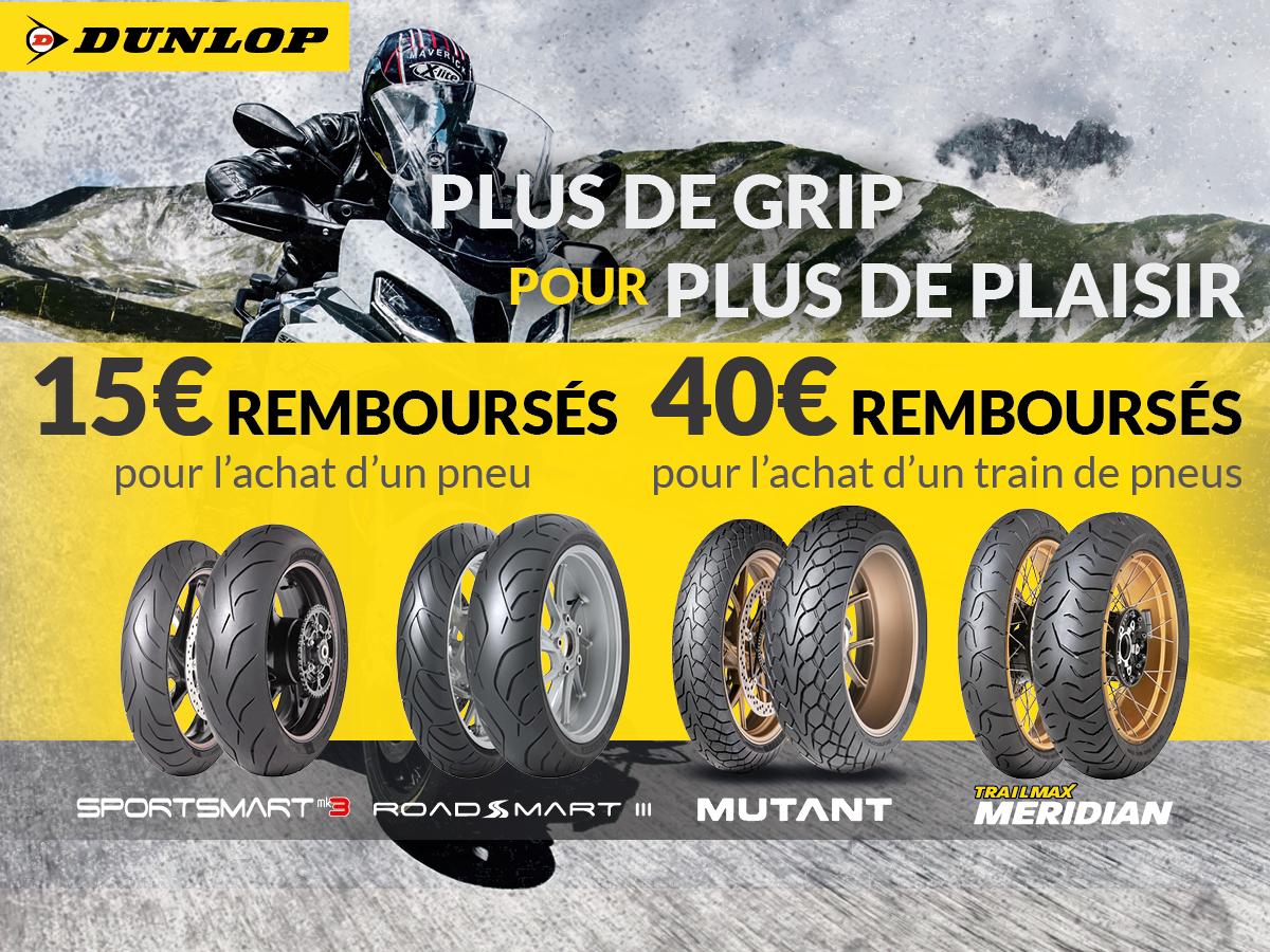 Jusqu'à 40€ remboursés sur vos pneus Dunlop