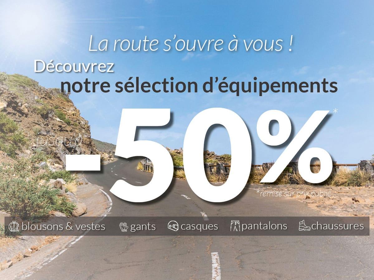 -50% sur une sélection d'équipements