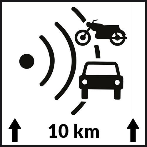 Les radars autonomes sont signalisés mais leur position reste vague. Il peuvent se trouver n'importe où sur le tronçon de route indiqué