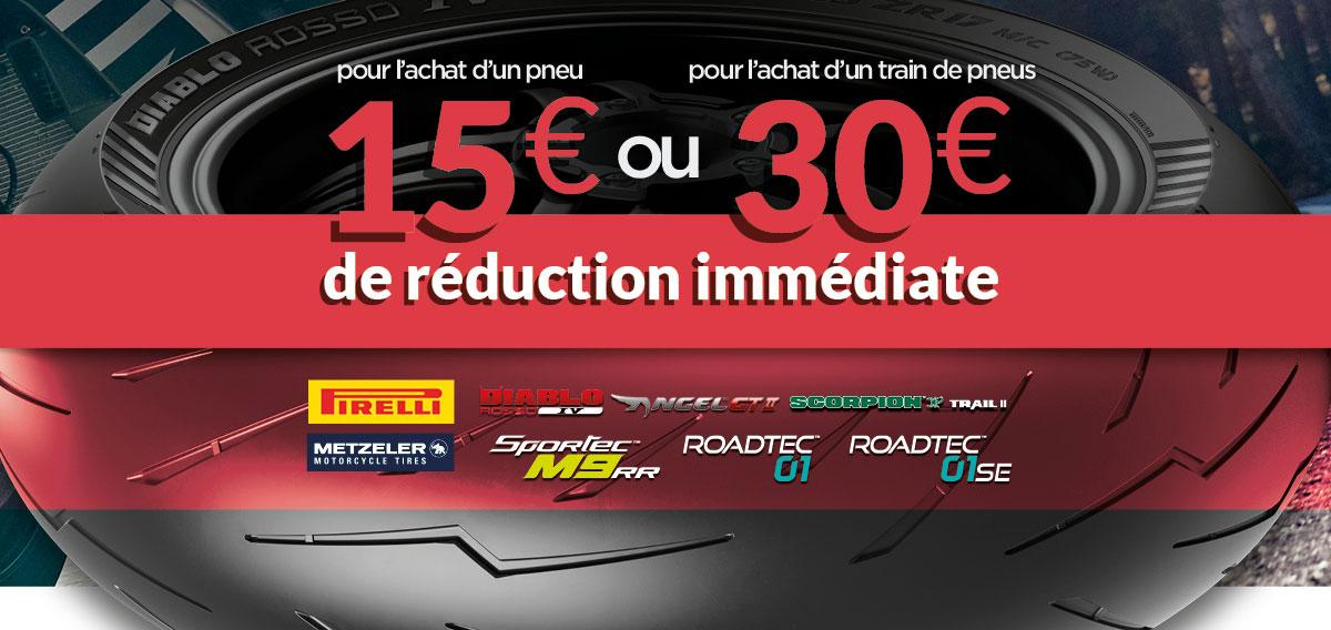 -30€ sur les pneus Pirelli & Metzeler