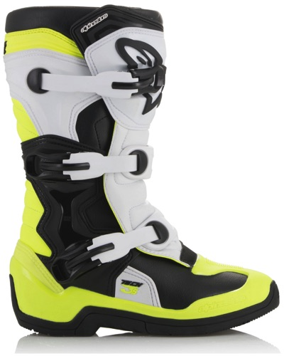 ALPINESTARS Tech 3S Youth noir-blanc-jaune fluo
