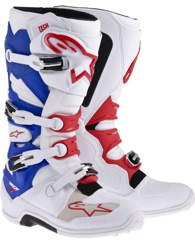 ALPINESTARS  Tech 7 BLANC-BLEU-ROUGE