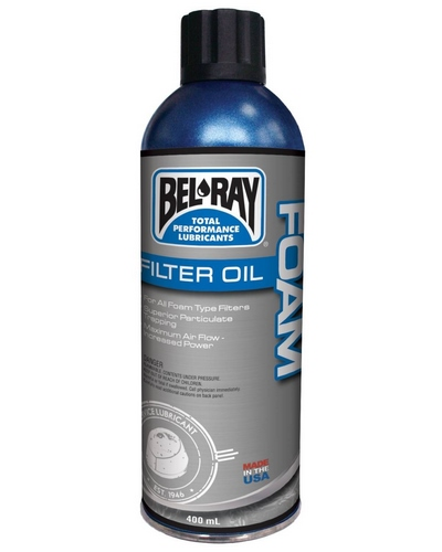 BEL-RAY Foam Filter Oil Spray 400 ml