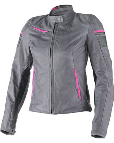 DAINESE  cuir Michelle lady GRIS-ROSE