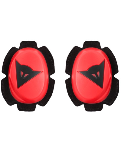 DAINESE Kit slider genoux Pista rouge fluo