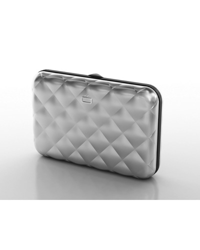 OGON Porte-cartes Quilted Button SILVER