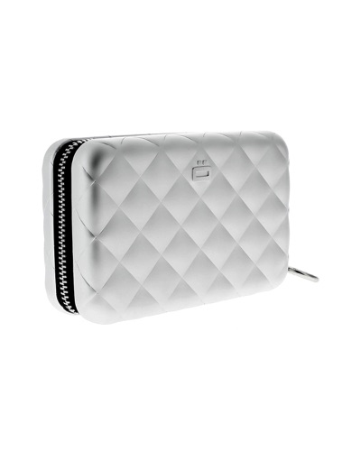 OGON  Porte-cartes Quilted Zipper SILVER