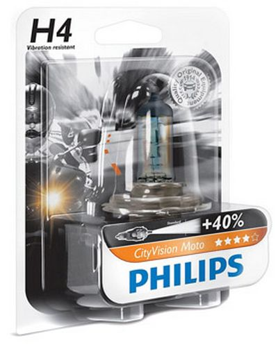 PHILIPS Ampoule Feux de Route - H4 - CITY VISION - 12V 60/55W - PHILIPS