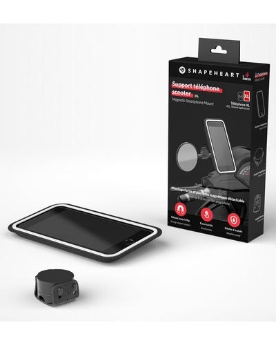 SHAPEHEART Support magnétique pour Smartphone taille XL